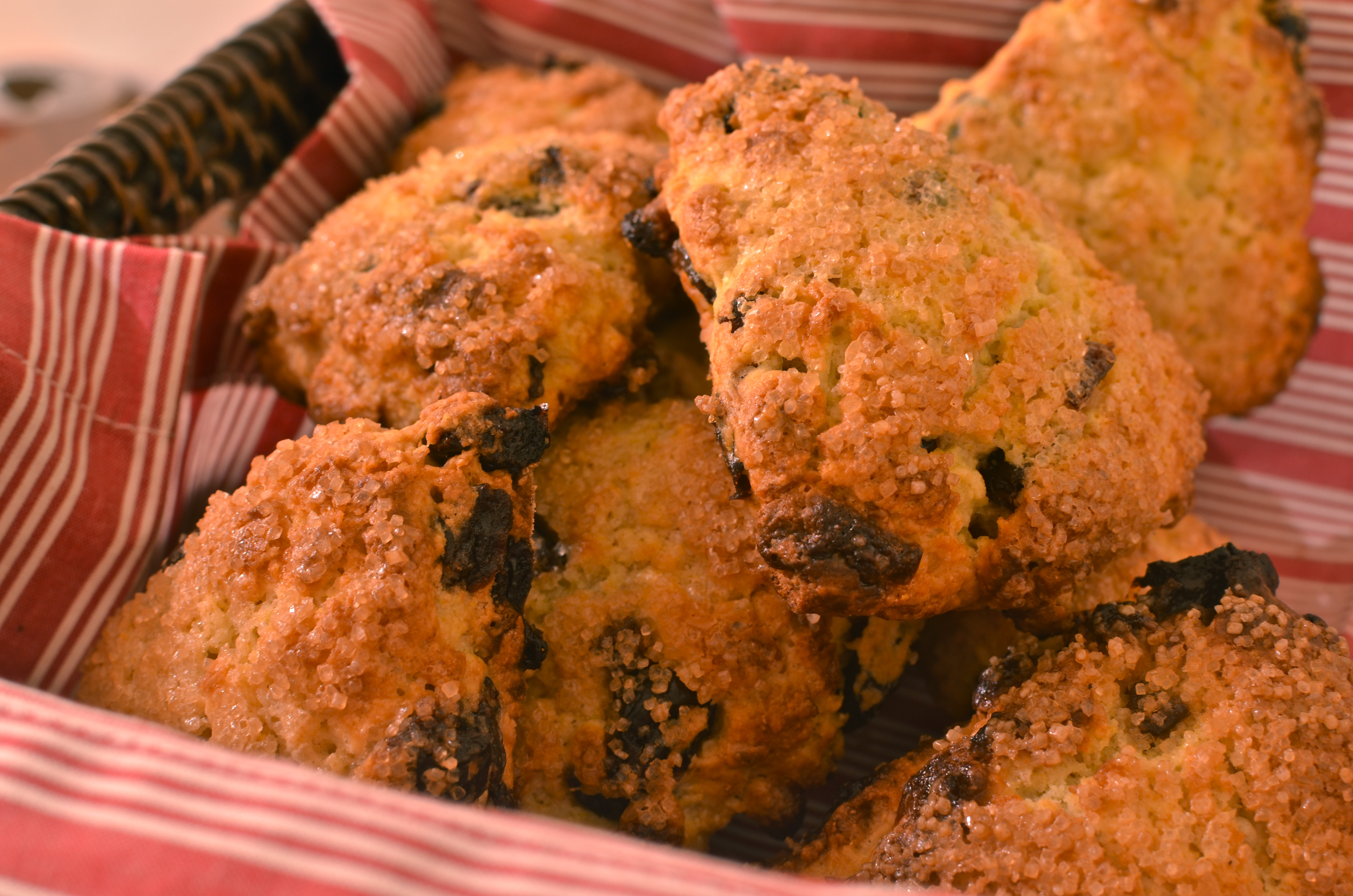 White Chocolate and Sour Cherry Scones