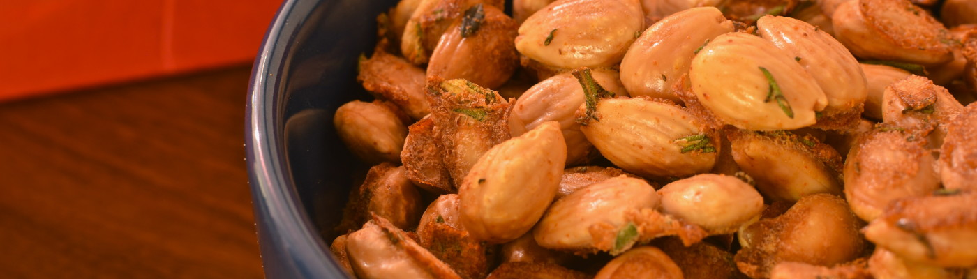 Roasted Almonds with Fleur de Sel and Rosemary