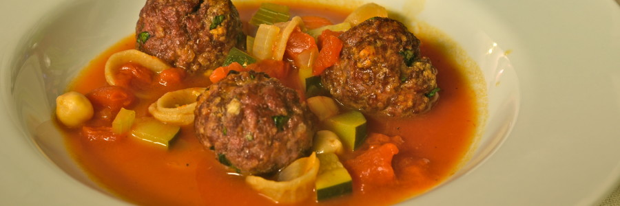 Minestrone and Meatball Soup