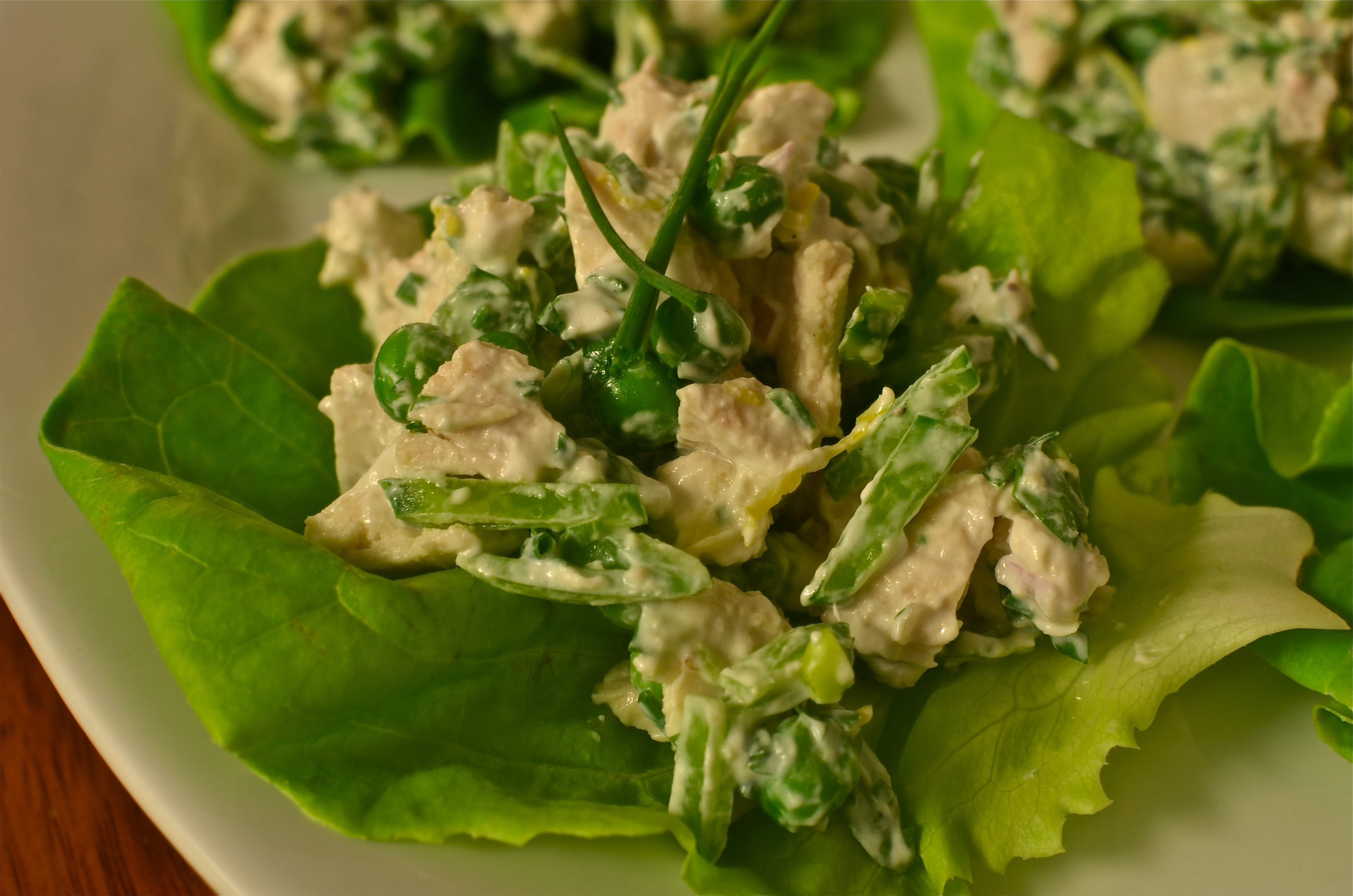 mayo-less chicken salad, no mayo chicken salad, chicken salad without mayo