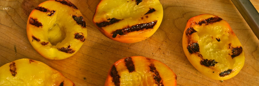 Grilled Peaches, Peaches, Peach, Pork Chops and Peaches