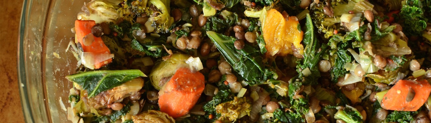 Roasted Vegetable and Lentil Salad