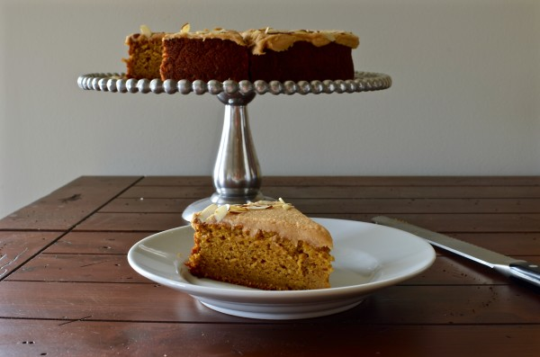 Pumpkin Almond Cake with Almond Butter Frosting
