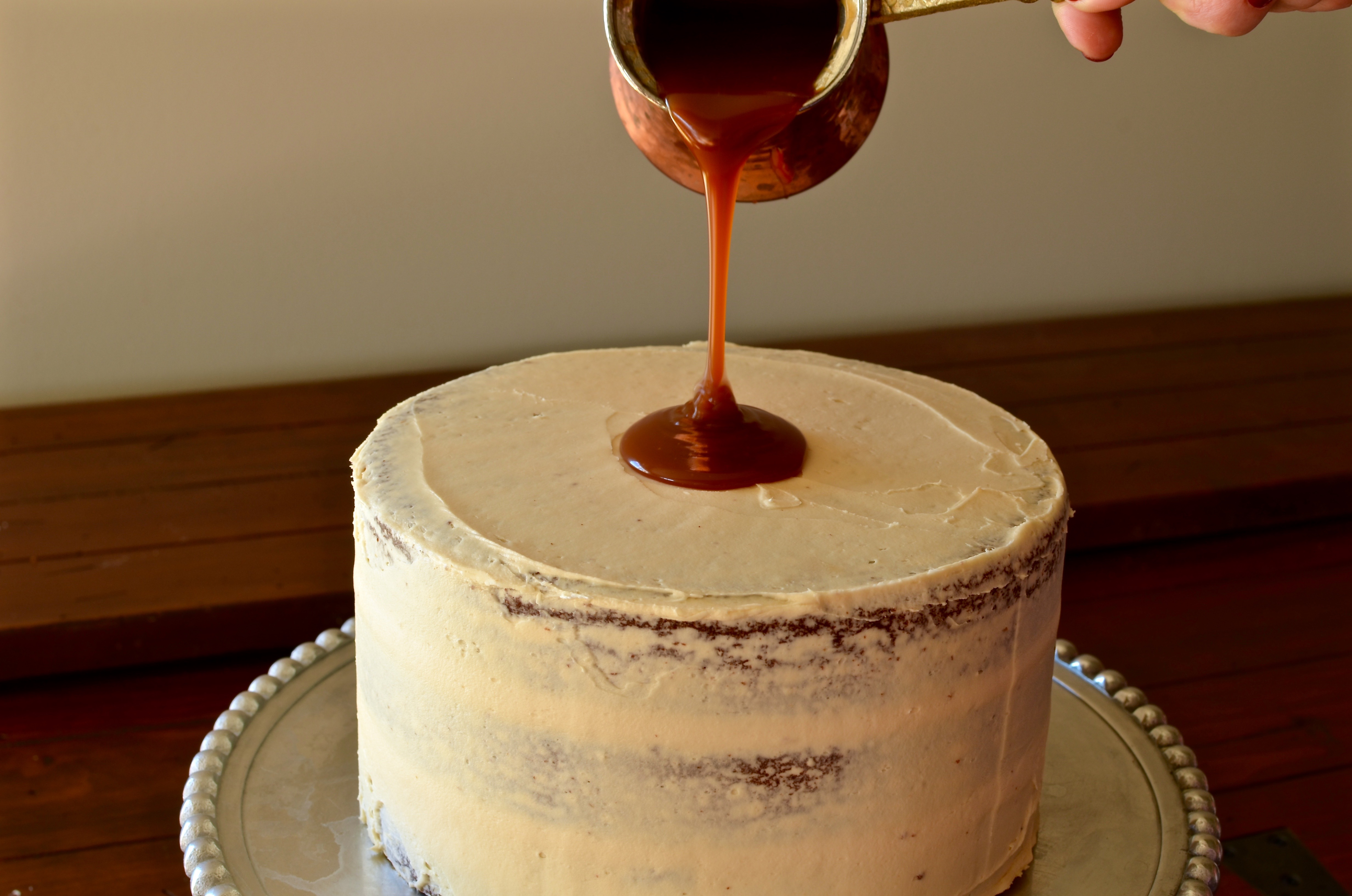 Gingerbread Layer Cake With Salted Whiskey Caramel Pte Chew
